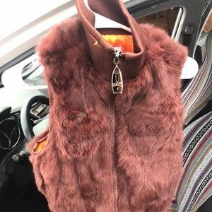 Azzure Brown fur vest